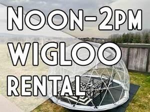 Wigloo Rental Saturday 3/20/21 Noon to 2pm